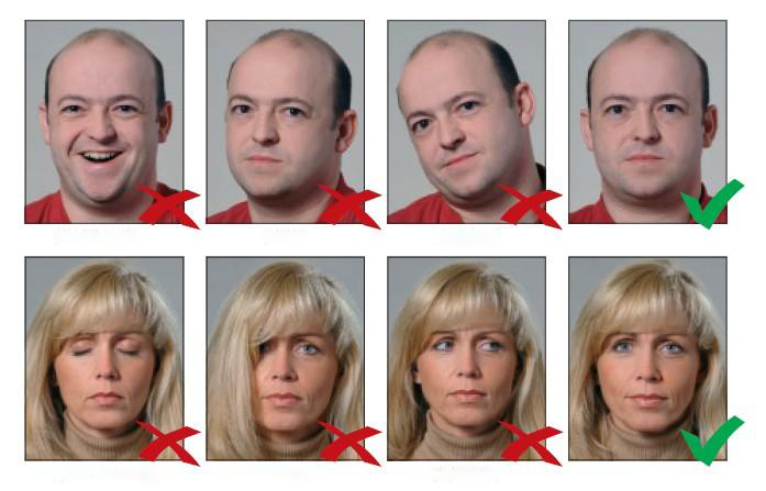Образец фотографии на внутренний паспорт